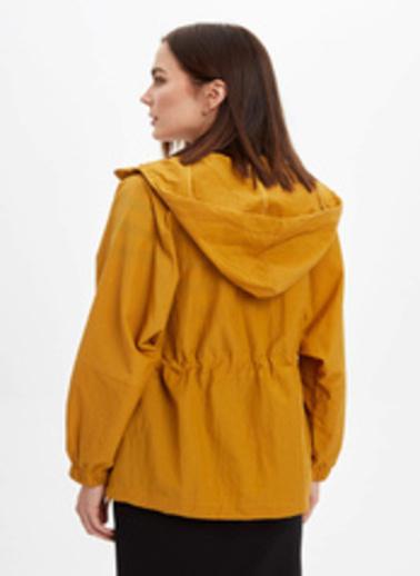 DeFacto Fermuarlı Yağmurluk Sarı